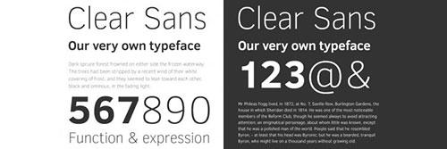 Clear Sans Free Font freebies designer