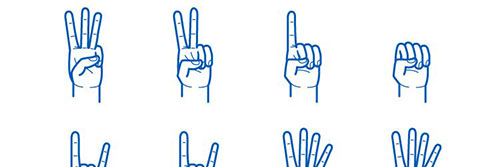 Hand Gesture Pack AI EPS 图标素材