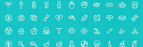 Science Icons AI 图标素材