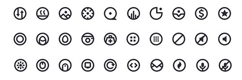 Circlecons Vol2 sketch 图标素材