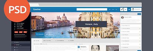 Web Templates Travel Network psd freebies designer