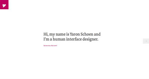 Yaron Schoen 极简主义 网页设计