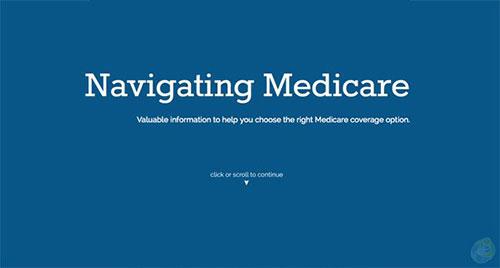 Navigating Medicare 极简主义 网页设计