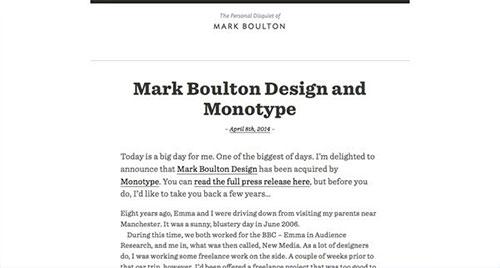 Mark Boulton 极简主义 网页设计