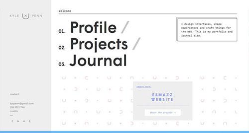 Kyle Penn 极简主义 网页设计
