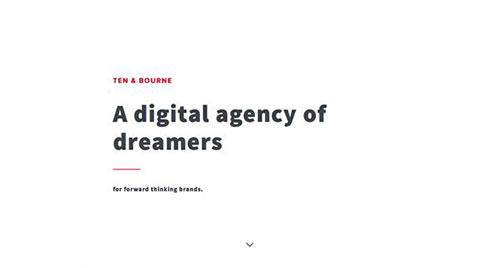 Ten & Bourne 极简主义 网页设计