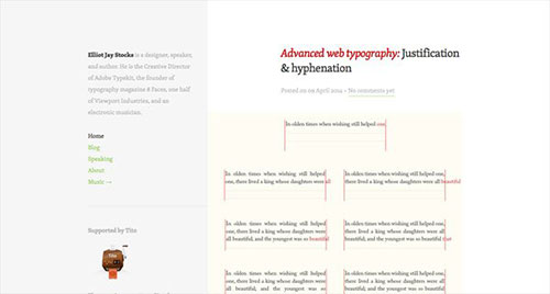Elliot Jay Stocks 极简主义 网页设计