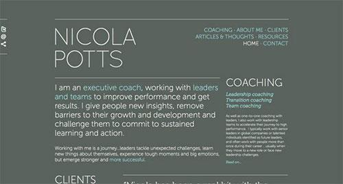 Nicola Potts 极简主义 网页设计