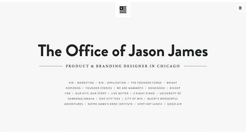 The Office of Jason James 极简主义 网页设计