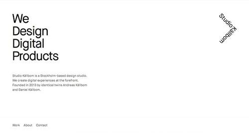 Studio Källbom 极简主义 网页设计