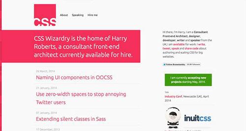 CSS Wizardry 极简主义 网页设计