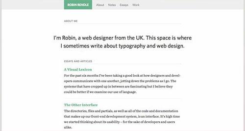 Robin Rendle 极简主义 网页设计