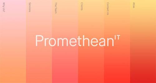 Promethean IT 极简主义 网页设计