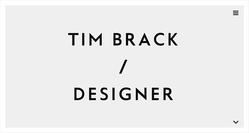 Tim Brack 极简主义 网页设计