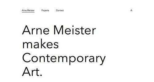 Arne Meister Contemporary Art 极简主义 网页设计