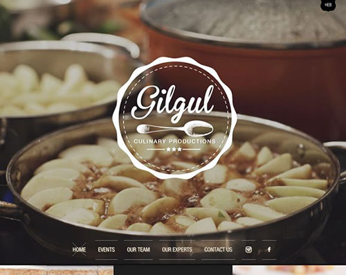 餐厅网站 美食网站 网站设计