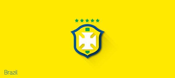 2014世界杯各国国旗设计 扁平化+长阴影风格