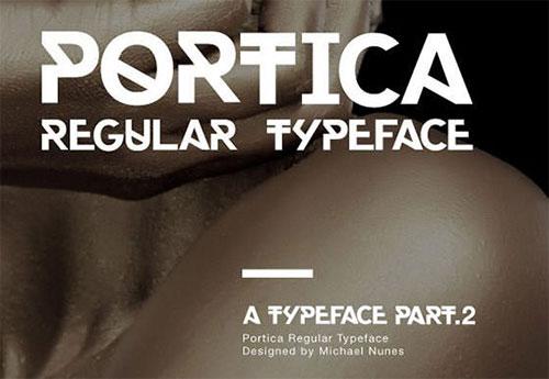 portica-free-font