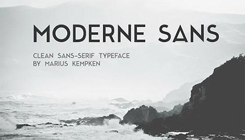 moderne-sans-free-font