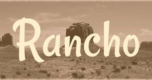rancho_font