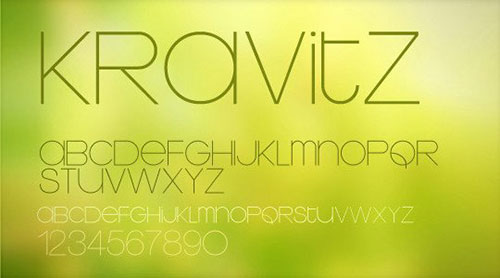 thin font 细字体