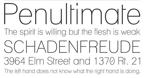 Lane thin font 细字体