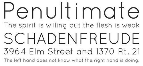 Quicksand thin font 细字体