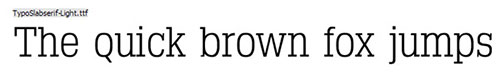 Typo Slab Serif thin font 细字体
