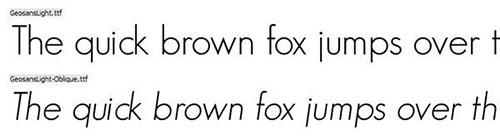 Geo Sans Light thin font 细字体