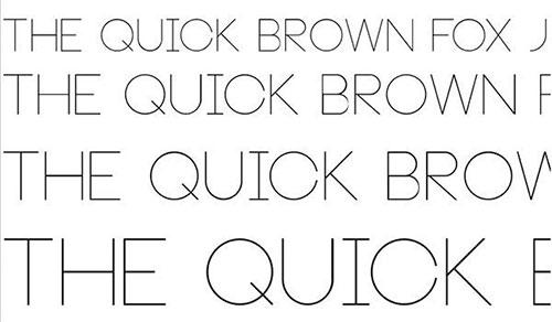 Neou Thin thin font 细字体