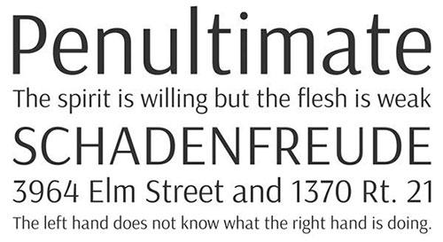 Arsenal thin font 细字体