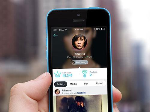 celebrity profile interface design mobile ui设计 界面设计