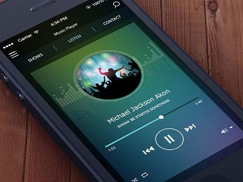 ios iphone music player app ui design ui设计 界面设计