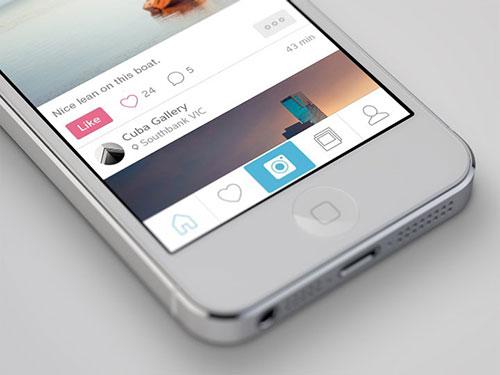 photostream app iphone ui design ui设计 界面设计