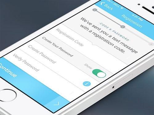 register confirmation screen code app ui设计 界面设计