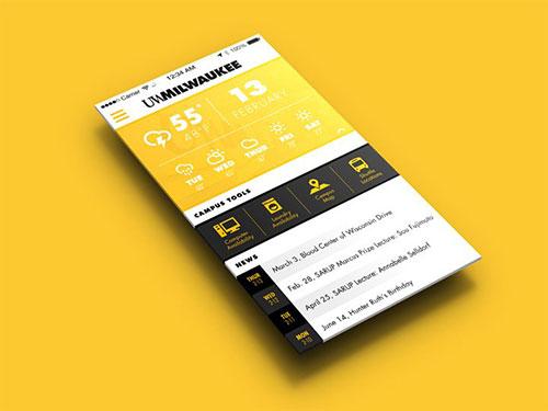 university of milwaukee application iphone ui设计 界面设计