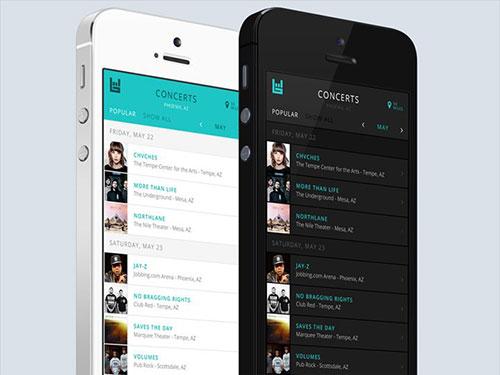 music concert app ui design interface ui设计