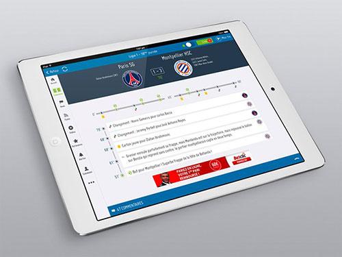 soccer ipad app interface ui design ui设计 界面设计