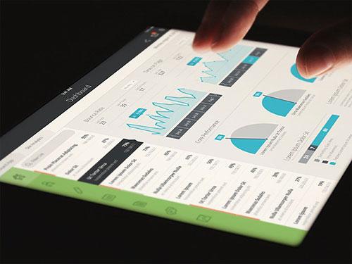flat dashboard user interface ipad ui设计 界面设计
