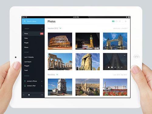 personal photo app ipad ui设计