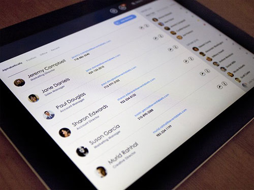 flat ipad dashboard crm interface ui设计 界面设计