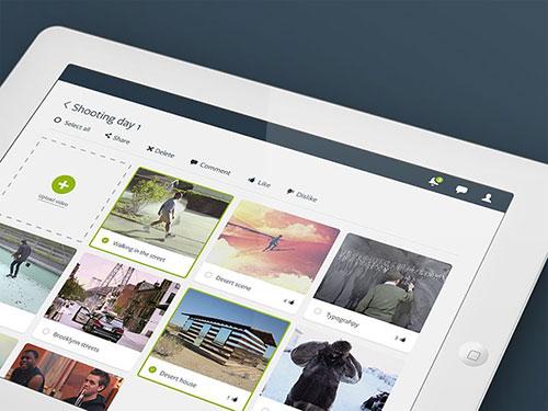 rush ios ipad video editing app ui设计 界面设计