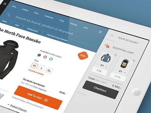 ipad ios app interface shopping cart ui设计