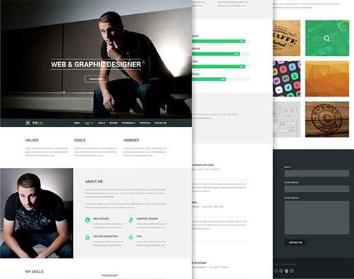 focal-psd-theme-promo psd 网站模板