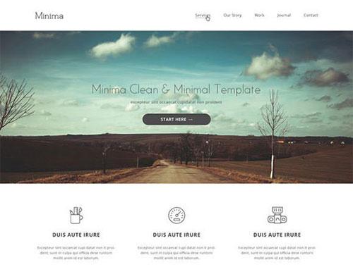 Minimal-600 psd 网站模板