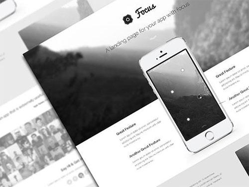 focus-psd-theme-freebie psd 网站模板