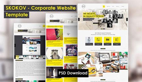 skokov-free-corporate-psd-theme psd 网站模板