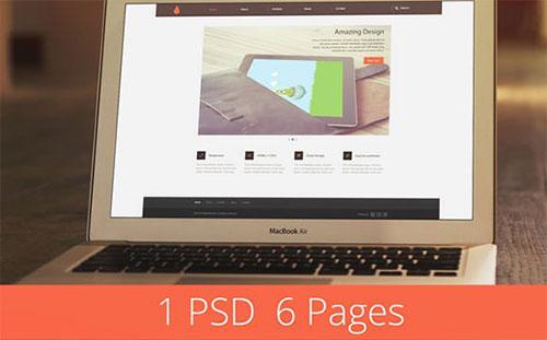 dede_template psd 网站模板