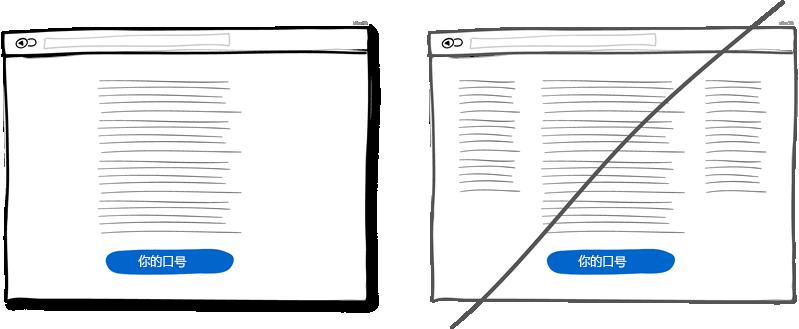 布局简单化,不要使用多栏布局