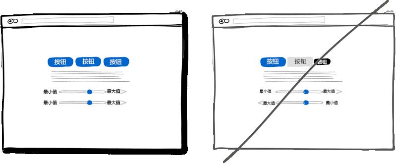 界面设计得一致,不要增加用户的学习成本
